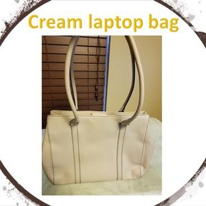 Handbags - Cream laptop bag